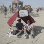 2008 Ask a Mathematician, Ask a Physicist Booth @ Burning Man