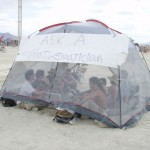 2009 Ask a Mathematician, Ask a Physicist Booth @ Burning Man