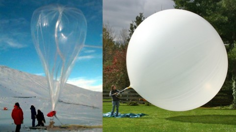 Weather balloons are intentionally under-filled on the ground so that when they're at altitude they'll be the right size.
