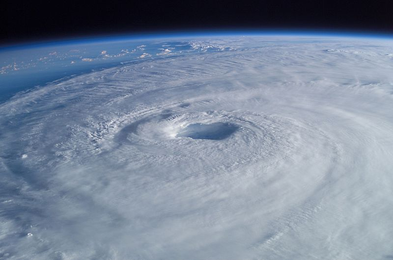 Hurricanes: powered by warm water, pushed in a loop by the Earth.