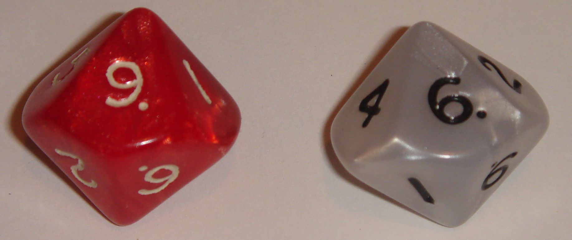 """96"" as represented on two d10's.  d10's exist because people want to generate numbers between 1 and 10,"