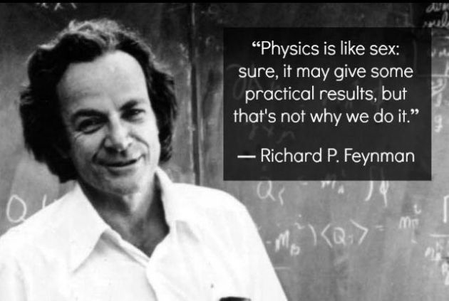 Feynman makes a good point.